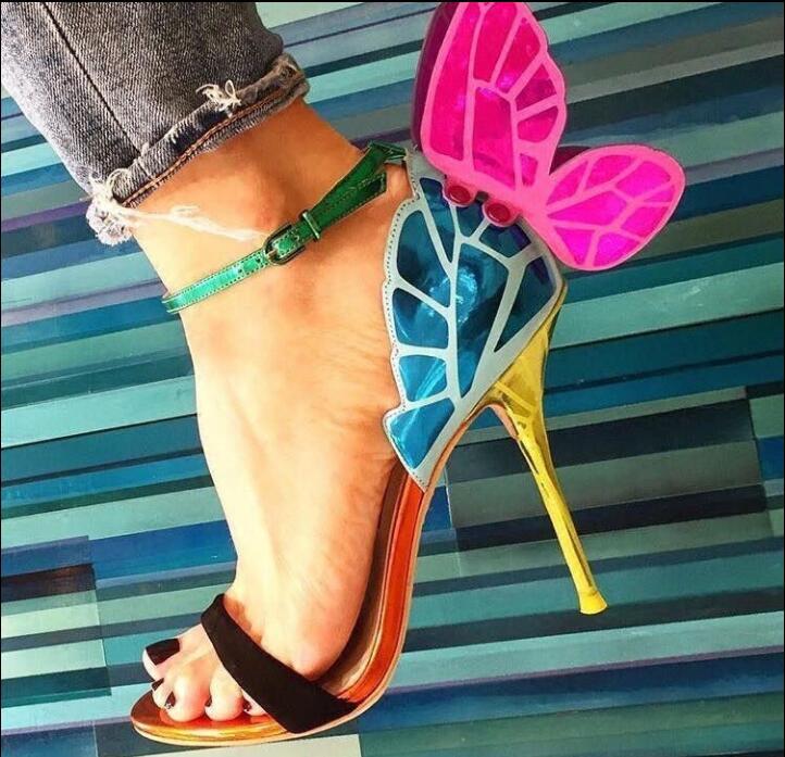 Toe Sandales As Aile Beertola Partie Mixte Femmes Feminina Cm Papillon Talons Chaussures 10 Nouvelles Haute Douce Femme De Peep Picture Couleur qqwS04Ht