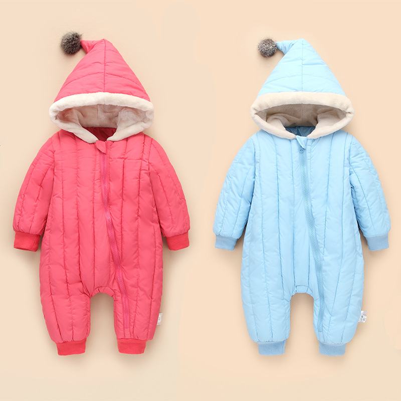Autumn Winter Warm Baby Rompers Infant Thicken Cotton Long Sleeve Jumpsuit Boys Girls Costume Newborn Baby One-piece Clothing warm thicken baby rompers long sleeve organic cotton autumn