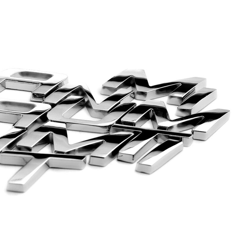 2.2cm TITANIUM Letters Solid Metal Zinc Chrome Refitting Car Styling Emblem 3D Sticker Trunk Logo for Ford New Edge Explorer