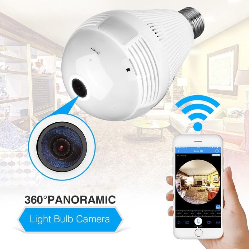 360 Degree Wifi LED Light Smart Camera HD Video Wireless 1080P IP Camera  Home LED Bulbs Security Surveillance Camera