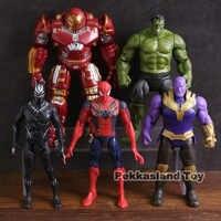 Marvel Avengers Hulkbuster Infinito Guerra Thanos Pantera Negra Hulk Spiderman Ação PVC Figuras Brinquedos 5 pçs/set
