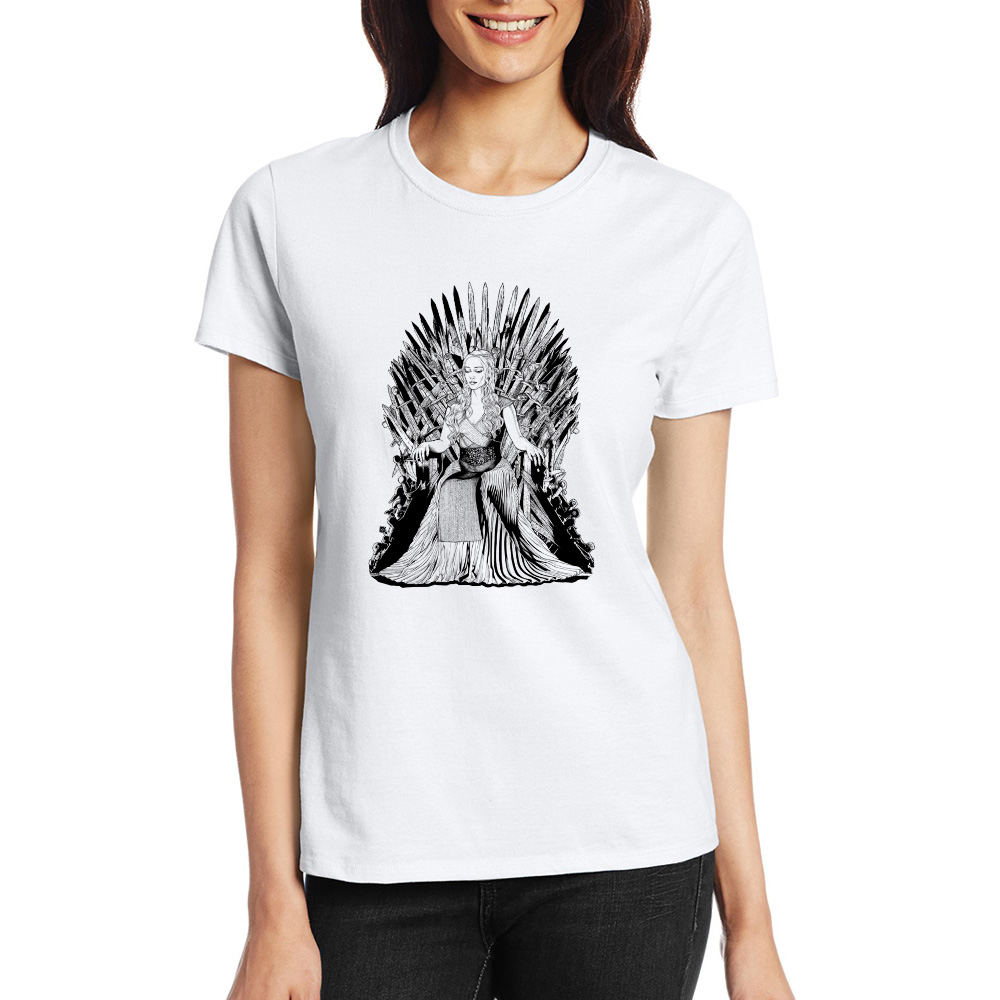 2017 game of thrones t shirt mother of dragon iron throne for Game of thrones dress shirt