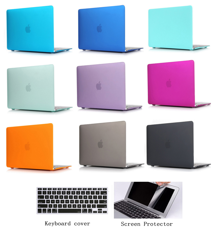 """Rubberized Hard Shell Case Keyboard Cover Macbook Air 11//13 Pro 13//15 Retina 12/"""""""