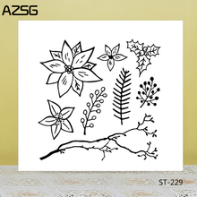 AZSG Plant, flower, grass Clear Stamps For DIY Scrapbooking/Card Making/Album Decorative Silicon Stamp Crafts