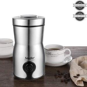 Image 2 - מיני חשמלי קפה מטחנת יצרנית מטבח מלח פלפל מטחנת תבלינים זרעי אגוז קפה שעועית טחנת עשבי תיבול אגוזי 220V Sonifer