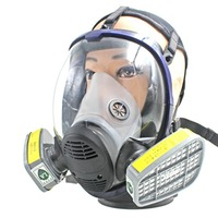Anti Acid Gas Safety Mask For Industry Painting Spraying Anti dust Full Facepiece Respirator Gas Mask with Filter Covers
