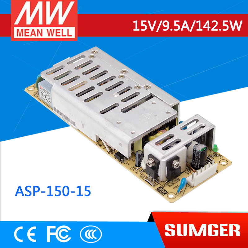 [Sumger2] MEAN WELL original ASP-150-15 15V 9.5A meanwell ASP-150 15V 142.5W Single Output with PFC Function [mean well1] original epp 150 15 15v 6 7a meanwell epp 150 15v 100 5w single output with pfc function