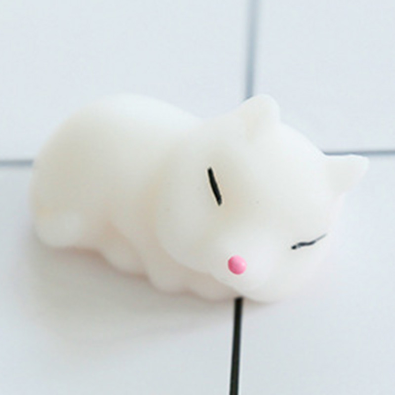 Cute Mochi Fox Soft Squishy Toy Gags Jokes Toys Phone Straps Fidget Hand Squeeze Pinch Toy