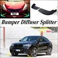 Car Splitter Diffuser Bumper Canard Lip For BMW X4 F26 2014~2016 Tuning Body Kit / Car Front Deflector Flap Fin Chin Reduce Body
