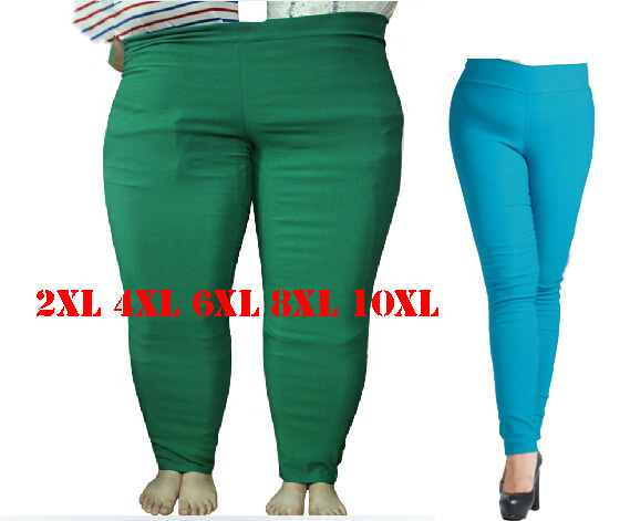 2XL 4XL 6XL 8XL 10XL Plus Size Women Pencil Pants Fashion Large Size Female Trousers Women 2017 Long Pants for Women Black Slim