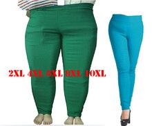 2XL 4XL 6XL 8XL 10XL плюс Размеры Женщины Карандаш Брюки Мода Большой Размеры женские брюки 2017, женская обувь длинные брюки для женский, черный тонкий