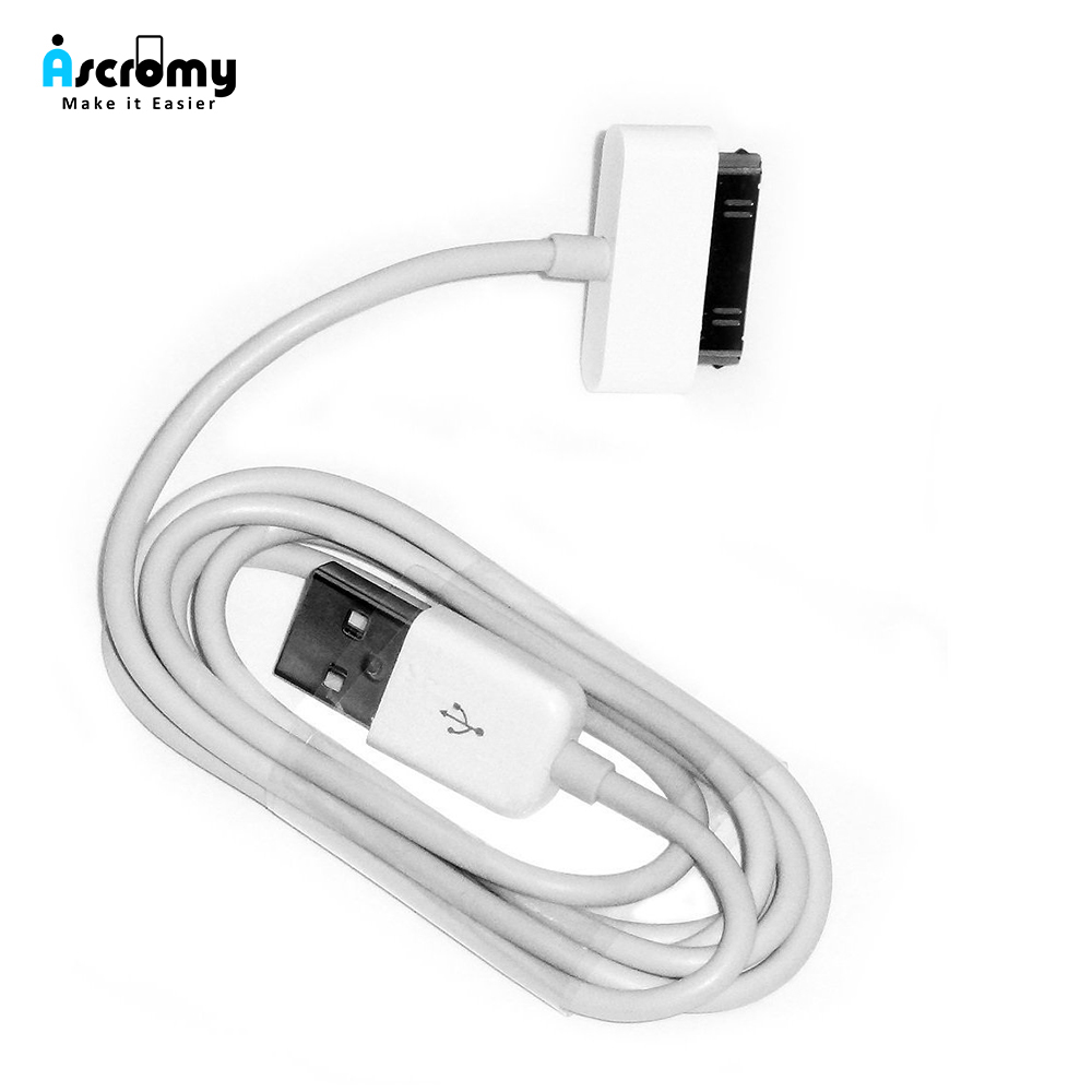 Ascromy Usb Charger Cable For iphone 4 4s ipod nano ipad 2 3 iphone 4 s iphone4 iphone4s 30 pin 1m cord usb charging cable kabel(China)