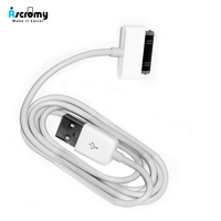 Ascromy Usb Ladegerät Kabel Für iphone 4 4s ipod nano ipad 2 3 iphone 4 s iphone4 iphone 4 s 30 pin 1m kabel usb lade kabel kabel