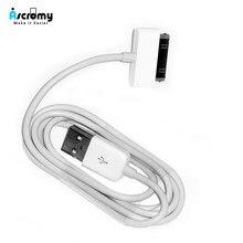 Ascromy cabo de carregador usb, cabo de carregamento para iphone 4 4s ipod nano ipad 2 3 iphone 4 s iphone 4S 30 pin 1m fone de ouvido