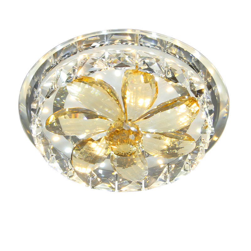 Led crystal aisle lights corridor lights ceiling lamps porch lights foyer lights home round large lotus stick flowers