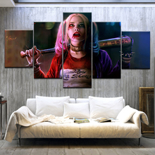 5 Panel HD Printed  Quinn Margot Robbie Movie Star Print On Canvas Art Painting For home living room decoration