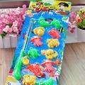 2017 1 Conjunto de Pesca Magnética Quente Playset Jogo Pai-Filho Brinquedos Educacionais Do Bebê Para Crianças Dom 12 De Peixe De Plástico 1 Haste