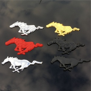 Image 1 - For Ford Mustang Shelby GT 3D high quality Metal Running Horse Sticker car decoration body car stickers accessories.