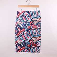 Geometric Patterned Skirt for Women
