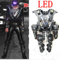 2015 hot LED laser armor costumes male singer sequins guest DS fluorescence nightclub stage atmospheric tide high quality