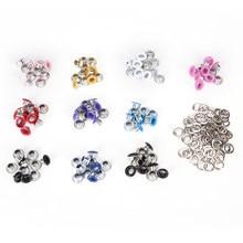 Oeillets métalliques pour Scrapbooking, vêtements bricolage embellir, différentes couleurs aléatoires de 3mm 4mm 100mm, 4.5 pièces