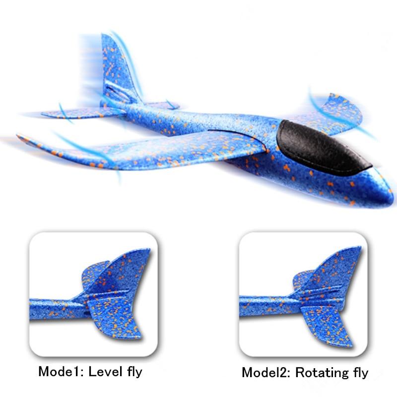 Купить с кэшбэком Fancy Design Hand Throwing Airplane EPP Foam Plane Hand Launch DIY Glider Model Flying Toy Outdoor Fun Toys For Kids Gift Toys