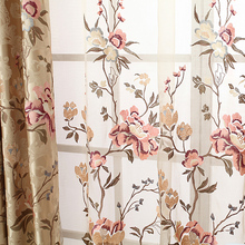 curtain Rich fashion quality rustic embroidered embroidery luxury chinese style bedroom curtain