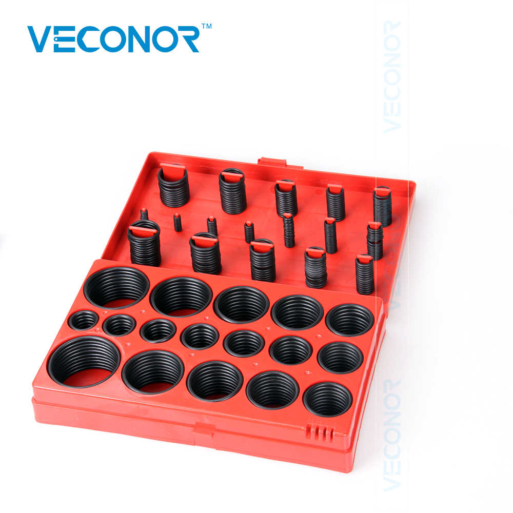 VECONOR Top Quality 419 PCS 419pcs High Temperature Transmission Kit Part Rubber Seal Assortment O-Ring Seals Set Nitrile Rubber