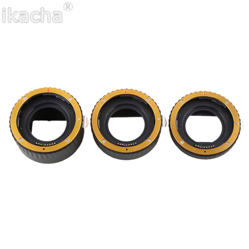 Metal Mount Auto Focus AF Macro Extension Tube Ring (4)