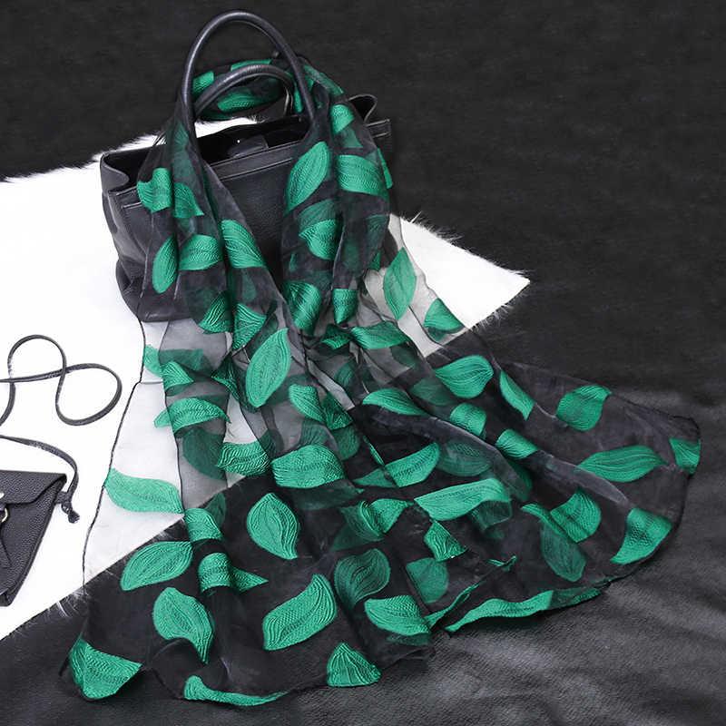 Sciarpa di seta Delle Donne di Estate Gioco Da Ragazzi Leggero Sheer Wrap Organza Garza Sciarpa S9076