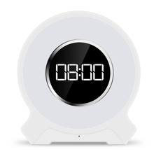 New colorful touch with clock alarm function Bluetooth speaker light LED wake-up