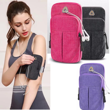 60 Universal Mobile Phone Bags Holder Outdoor Sport Arm Pouch Bag For iPhone 65 On Hand Sports Running Armband Bag Arm Case