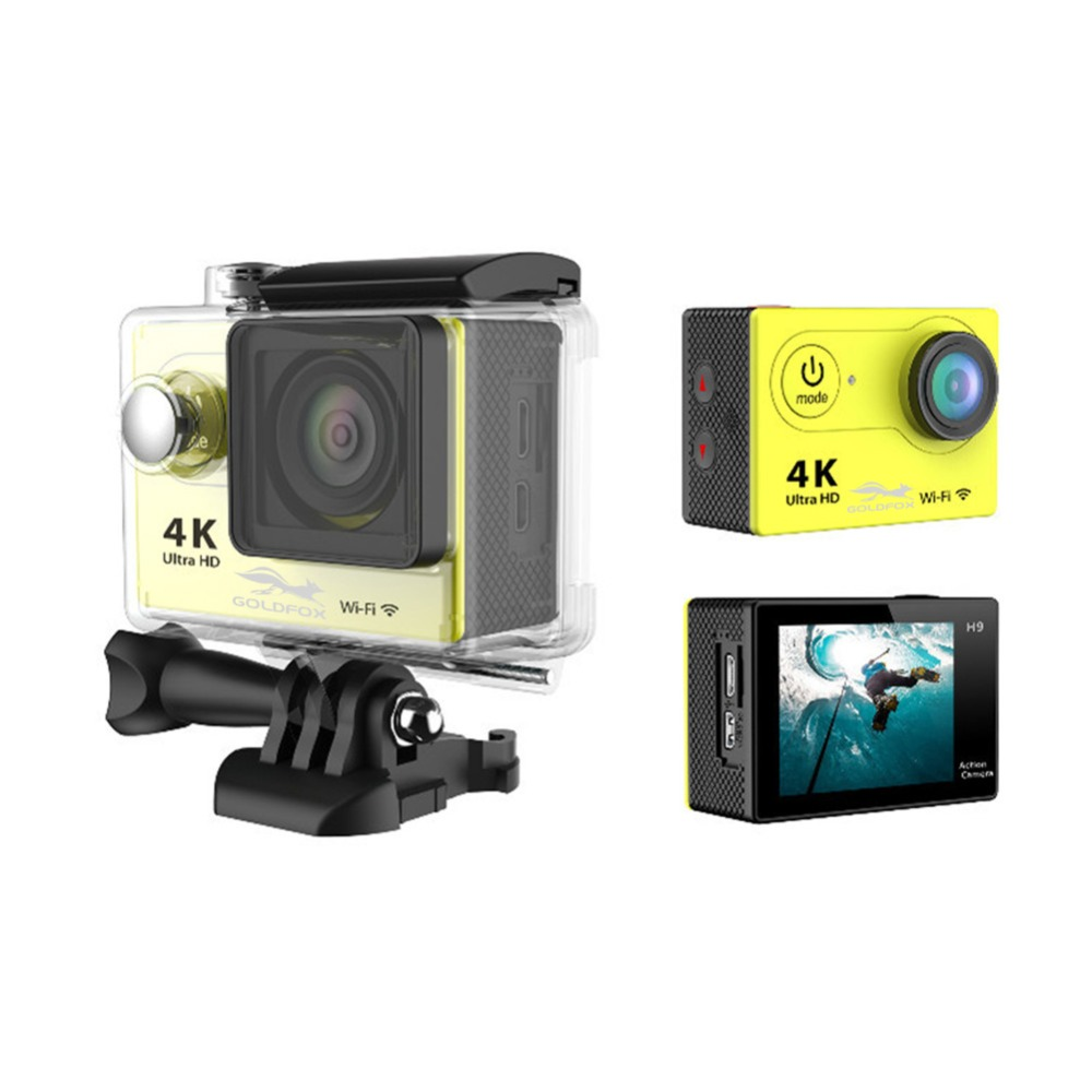 1080P Ultra-HD 4K Action Camera wifi Car Camcorders 12MP 170D go cam 4K Sport Camera pro cam With waterproof case action camera f88 action camera black