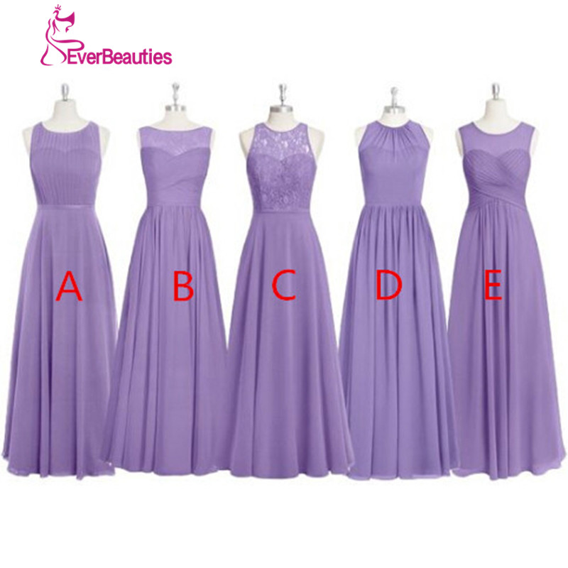 Lavender Bridesmaid Dresses Long Chiffon Pleated A Line Alibaba ...