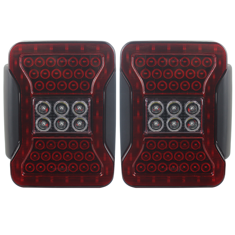 Red Color For Jeep Wrangler JK Taillight Assembly LED White Reverse Light Red Running Light Brake Light New design Small waist-in Car Light Assembly from Automobiles & Motorcycles    3