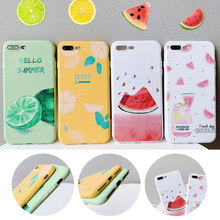 Cute Case TPU Fruit Cover For iphone 7 XR X XS XS Max 8 Plus Case Silicone Anti -knock Cover For iphone 6s Plus Patterned Case цена и фото