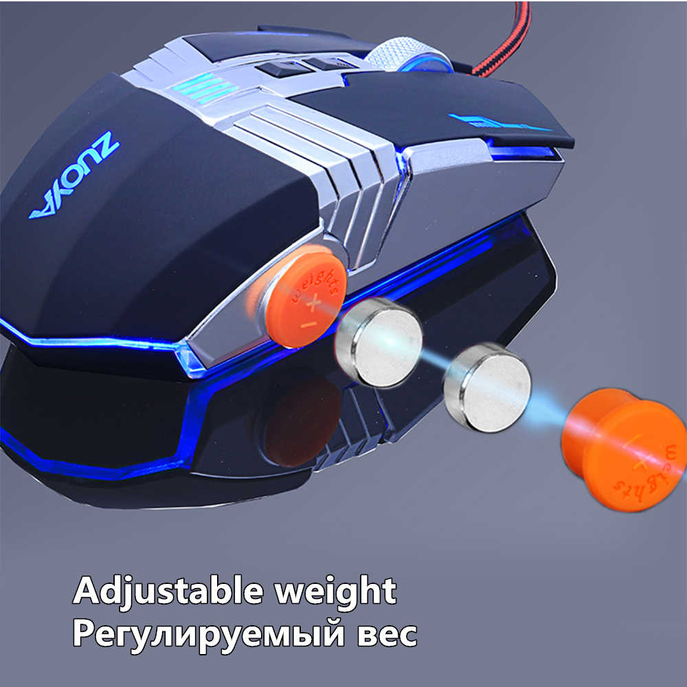 ZUOYA ゲーミングマウスプロフェッショナルゲーマーマウス有線光学式マウスアジャスタブル 3200 DPI LED マウス USB マウス用ゲームのラップトップコンピュータ