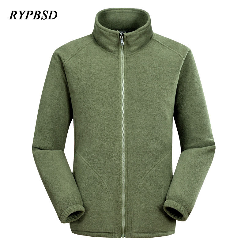 Autumn Winter Warm Military Full Zip Fleece Jacket Men Jackets and Coats Cardigan Plus Size Polar Thermal Soft Outerwear Clothes