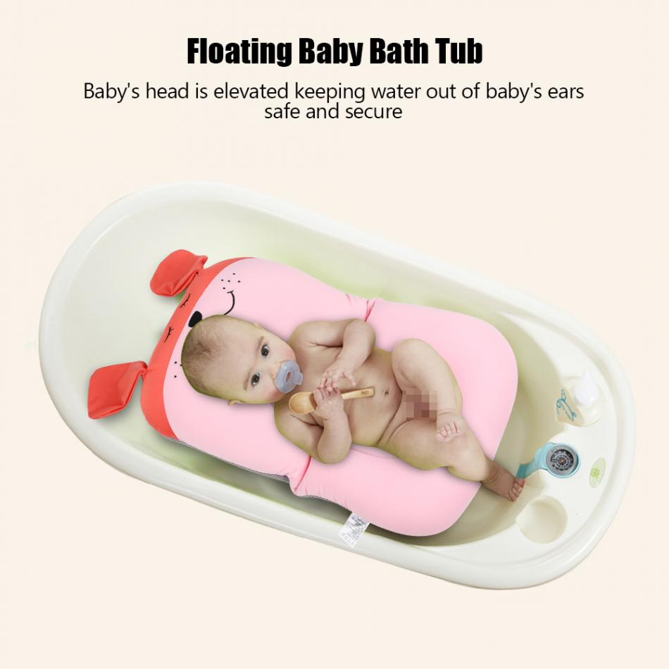 Floating Baby Bather and Non Slip Baby Bath Pad with Soft Air Cushion as Shower Bed for Infant 9