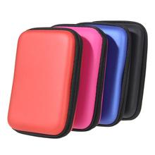 Nowy 1 sztuk 2 5 dysk zewnętrzny USB dysk twardy obudowa HDD torba przenośna etui wielofunkcyjne słuchawki kabel HDD torba tanie tanio W ALLOYSEED 13cm 5 12 10cm 3 94 4cm 1 57 HDD Bag Rose Red Red Blue Black For 2 5 Portable Hard Disk Drive HDD 1szt
