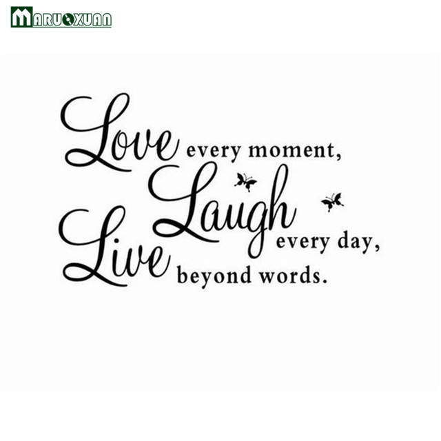 Maruoxuan Live Love Laugh Letters Wall Stickers Removable Environmental Pvc  Home Decor Transprent Waterproof Vinyl Wall Part 89
