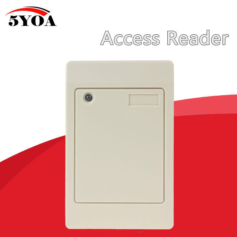 5YOA Waterproof 125KHz RFID Contactless Smart Proximity Card Reader Access Control Weigand IP65 EM ID outdoor mf 13 56mhz weigand 26 door access control rfid card reader with two led lights
