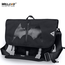 New Bat Pattern Large Men Bicycle Messenger Bag Boys Skateboard Laptop Bike Bags Male Nylon Shoulder Bag Bolso Bicicleta XA220ZC