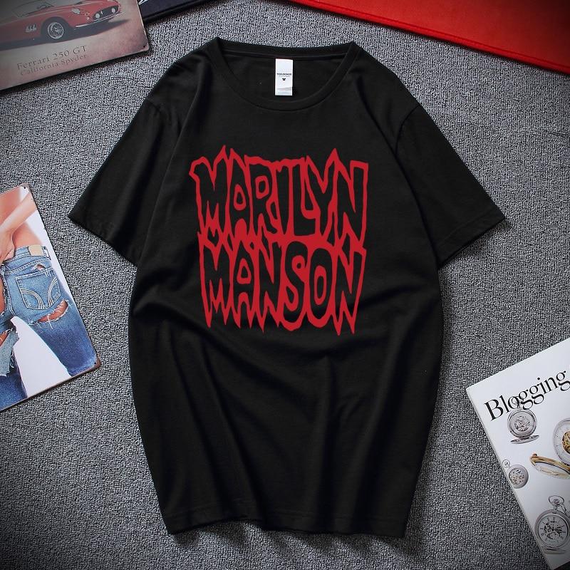 Rare Marilyn Manson Kill God Kill 1994 T-Shirt Reprint Loose Cotton T-Shirts For Men Cool Tops T Shirts