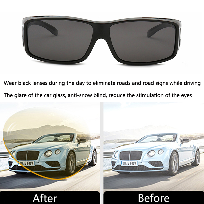 Image 3 - Car Night Vision Goggles Polarized Sunglasses Vision For Lada Granta Vaz Kalina Priora Niva Samara 2 2110 Largus 2109 2107-in Car Stickers from Automobiles & Motorcycles