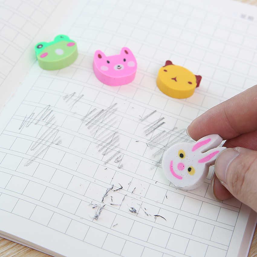 Kreative Trolley Form Radiergummi Niedlichen Cartoon Kaninchen Ente Bär Bleistift Radiergummis Student Schreibwaren Schule Büro Lieferungen Preis