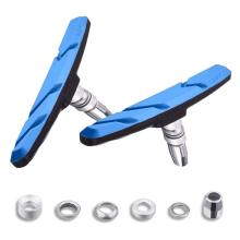 1Pair New Durable Mountain Bike Bicycle brake V-brake pads with mud trough silent bicycle road bike