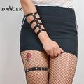 Новые подвязки подвязки Тела руки жгут браслет браслеты модные sexy геометрическая черный ремни крепления заклепки для леди