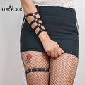 New garter Body hand harness bracelet bangles garter fashionable sexy geometric black harness attaching rivet for lady