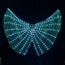 Luminous Wings 2017 Women Lady LED Colorful Butterfly Wings Show Glowing Clothing Light Dance Dress Accessories
